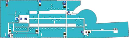 Схема расположения арендаторов на третьем этаже Омега Плаза