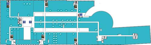 Схема расположения арендаторов на втором этаже Омега Плаза