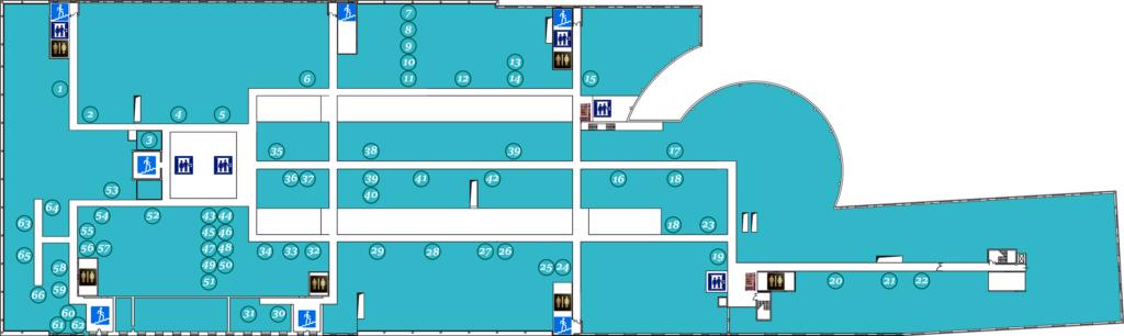 Схема офисов арендаторов четвертого этажа Омега Плаза